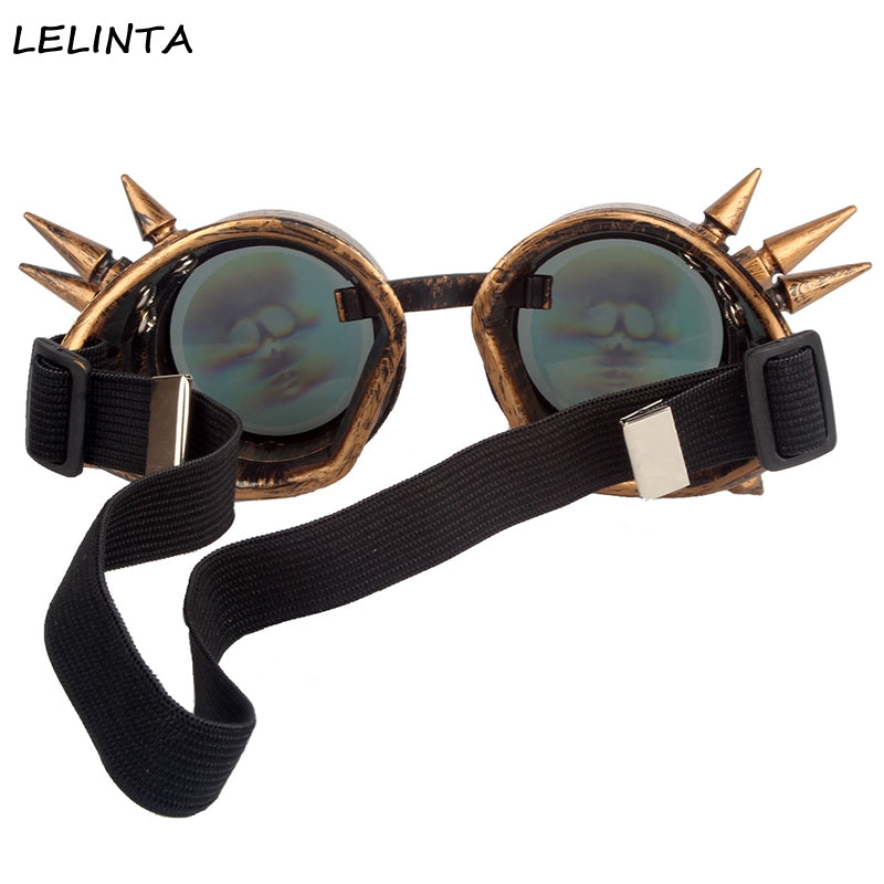 3D Skull Lens Glasses Halloween Cosplay Men Vintage Style