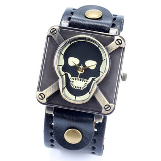 Vintage Cool Punk Rock Skull Skeleton Quartz Watch