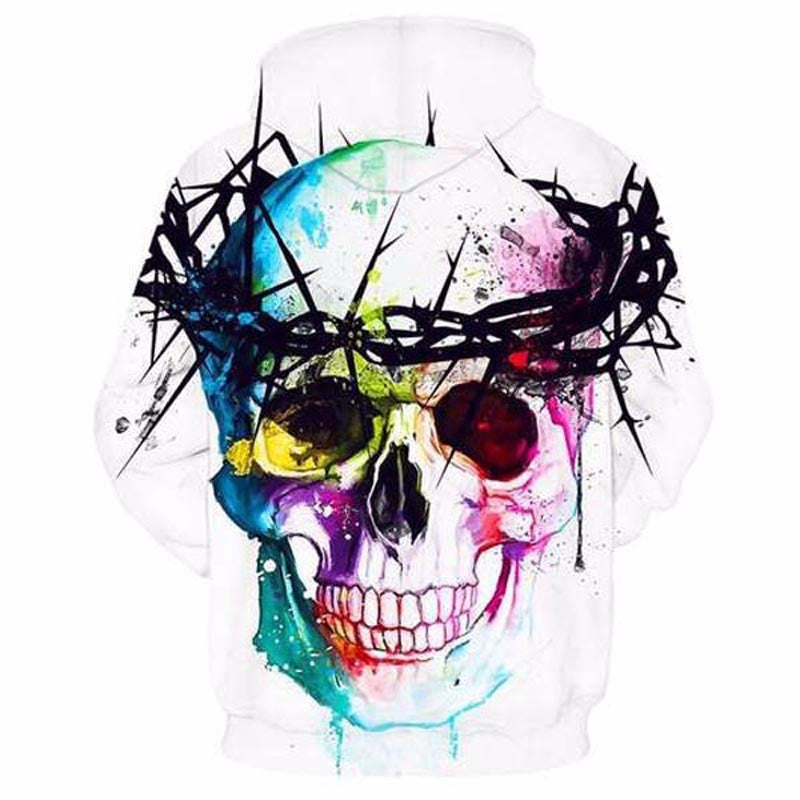 Hip Hop Skull Hoodies Men Women