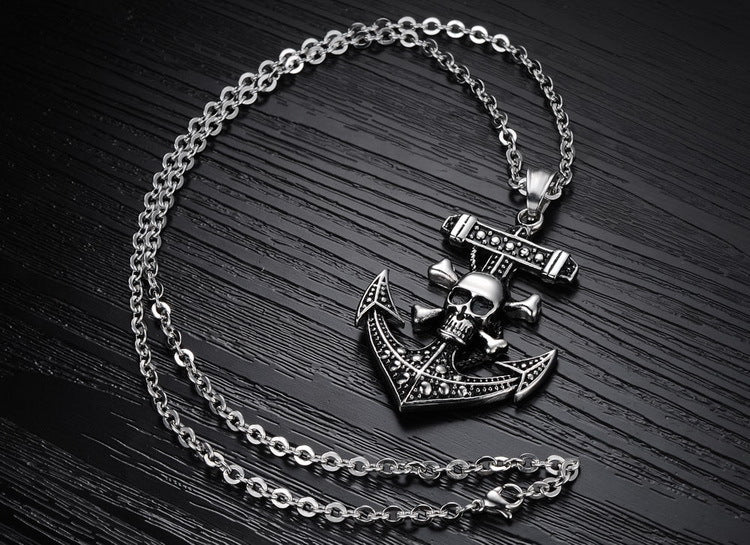 Anchor Necklaces Caribbean Pirate Captain Skull Necklace