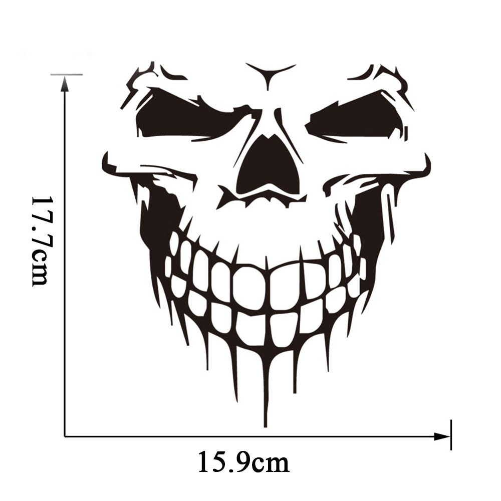 Tancredy 3D Skull Stickers 15.9*17.7cm Car Stickers