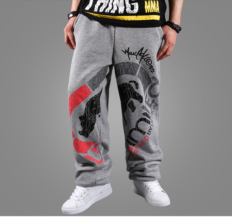 hiphop style new autumn black gray Pants