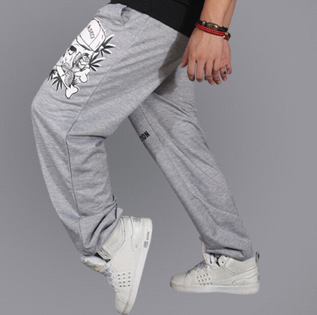 Skull Sweatpants Hiphop Loose Casual Pants