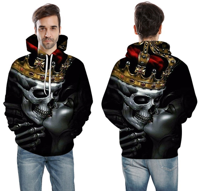 New Fashion 3d Hoodies Metal Skulls kiss