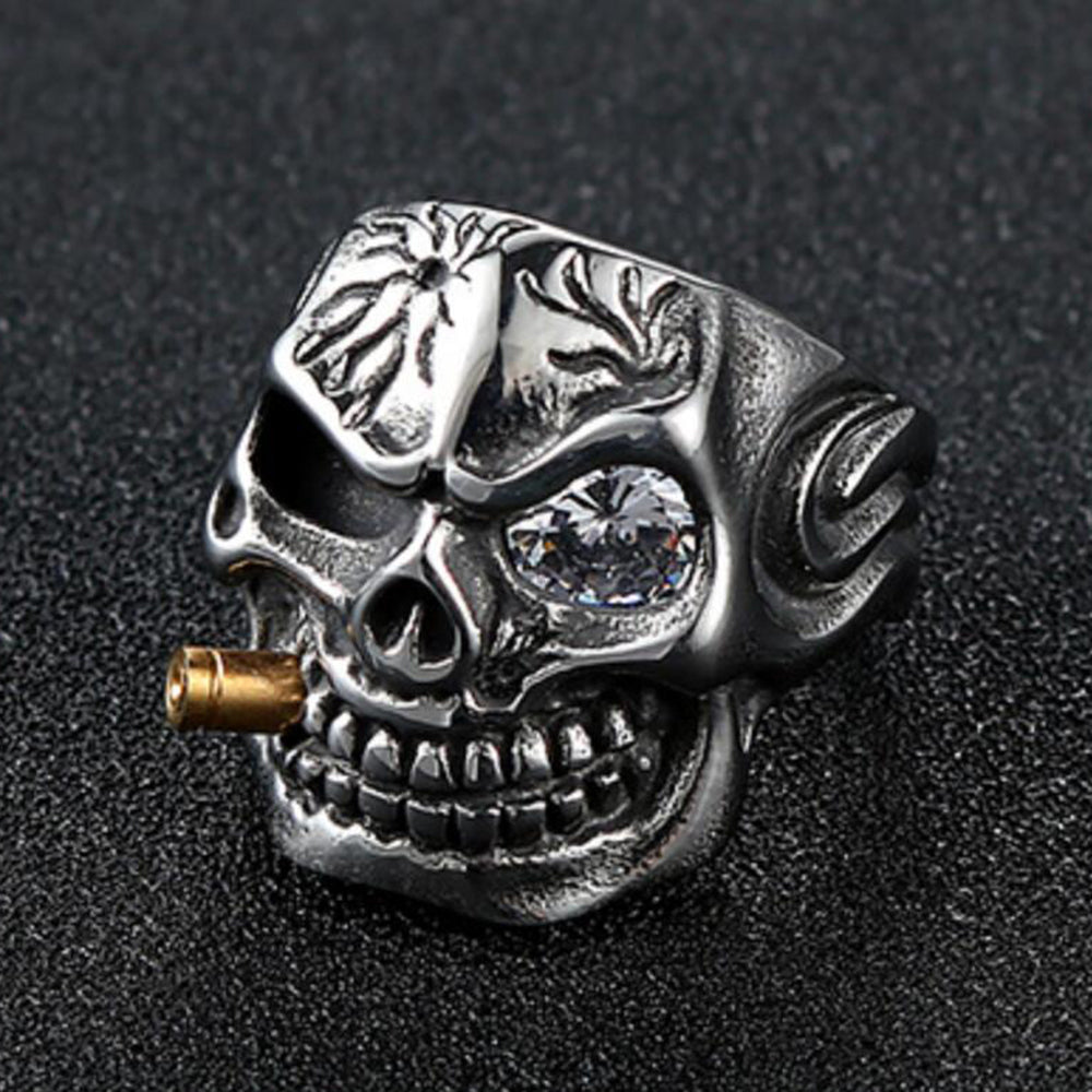 Men's Skull Biker Pirate Skeleton Rings