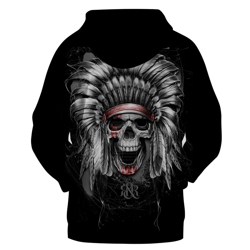 3D Sweatshirts Indian Skull Hoodies