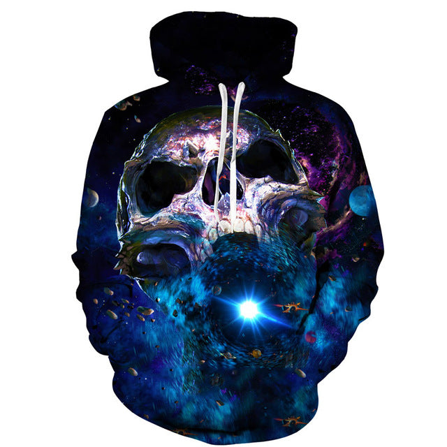Galaxy Skull Hoodies