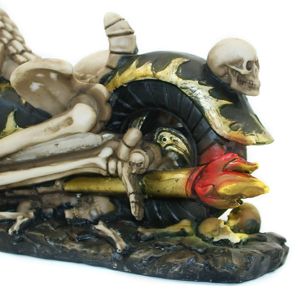 Skull Ghost Reaper Motorcycle Rider Speed King Skeleton