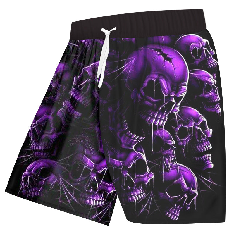 All set Shorts + t shirt Purple Broken Skull