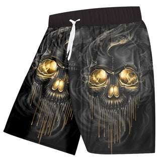 3D Shorts Print Smoking Skull Casual Shorts