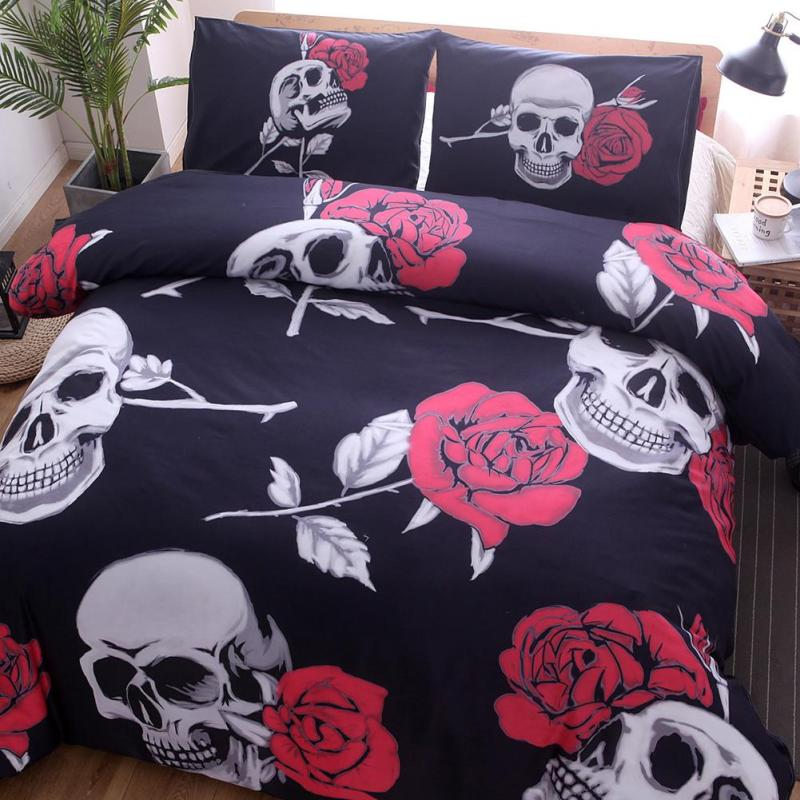 3D Skull Bedding Sets 3Pcs Quilt Cover
