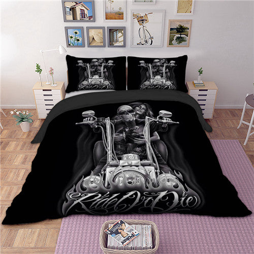 3D Gothic Bedding Set