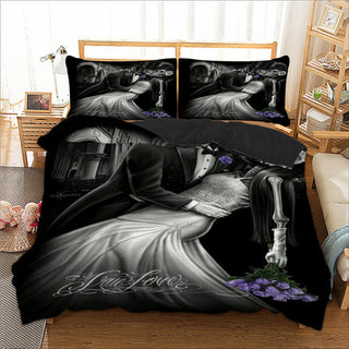 Romantic Skull Bedding Set