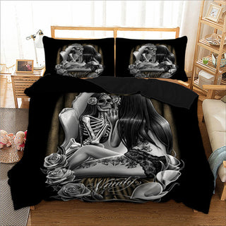 Skull Bedding Set Girl Duvet Cover Set