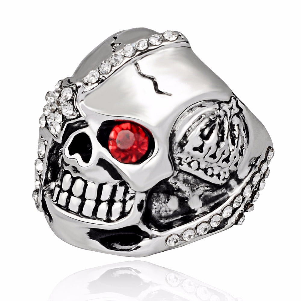 Graduation Fashion Design Gothic Punk Pirate Skull Silver