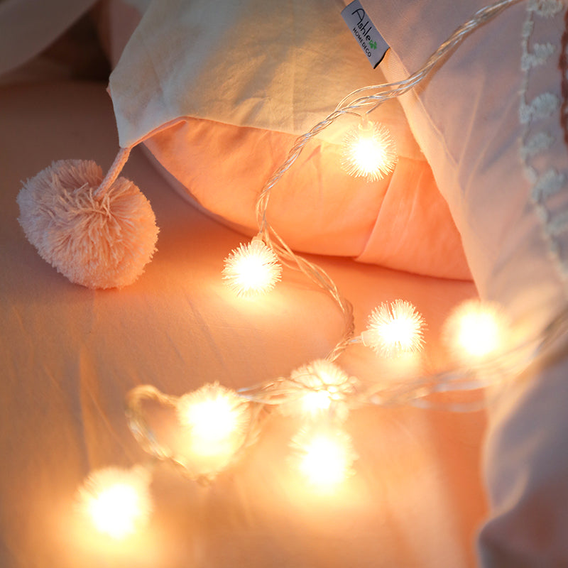 Led String Lights Mini Puffer Ball  40 LED 6M for Bed Canopy Curtains
