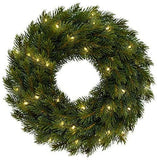Battery Operated Wreath Lights with Remote for Holiday Decor