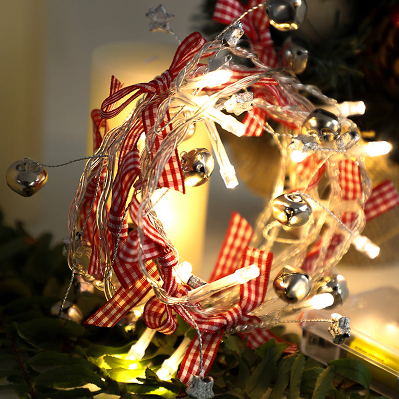 Christmas Bell Shaped String Light with Bow
