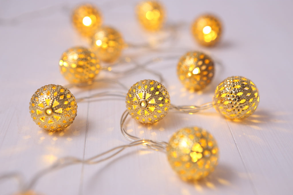 MAGICNIGHT 30 Golden Moroccan Battery Operated LED Fairy Lights - MAGICNIGHT