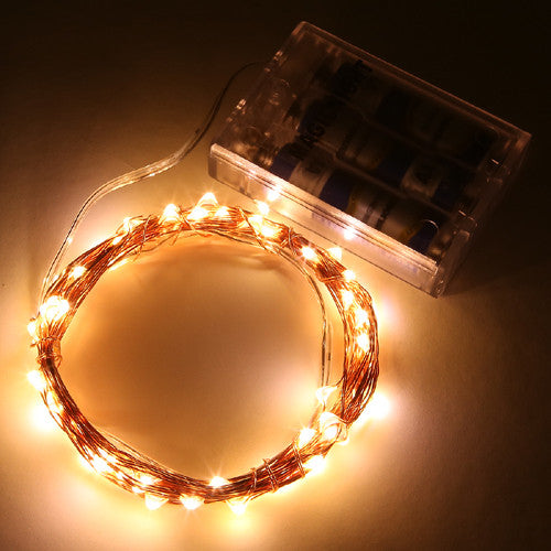 Magicnight 60 Leds Warm White Battery Operated String Light - MAGICNIGHT