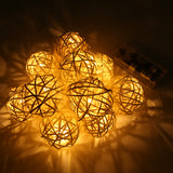 Magicnight 3Ft 10LED Rattan Ball String Lights Battery Operated