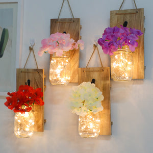 Mason Jar Sconce for Wall Decor Set Of 2 - MAGICNIGHT