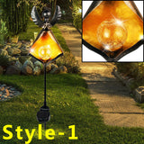 Solar Powered Flame LED Garden Light