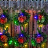 Solar Olive Branch Wreaths  String Lights