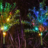 2 Pack of Solar Christmas Tree Stakes Lights