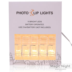 Magicnight 3M Mini 20 LED Photo Clips String Lights Battery Operated - MAGICNIGHT