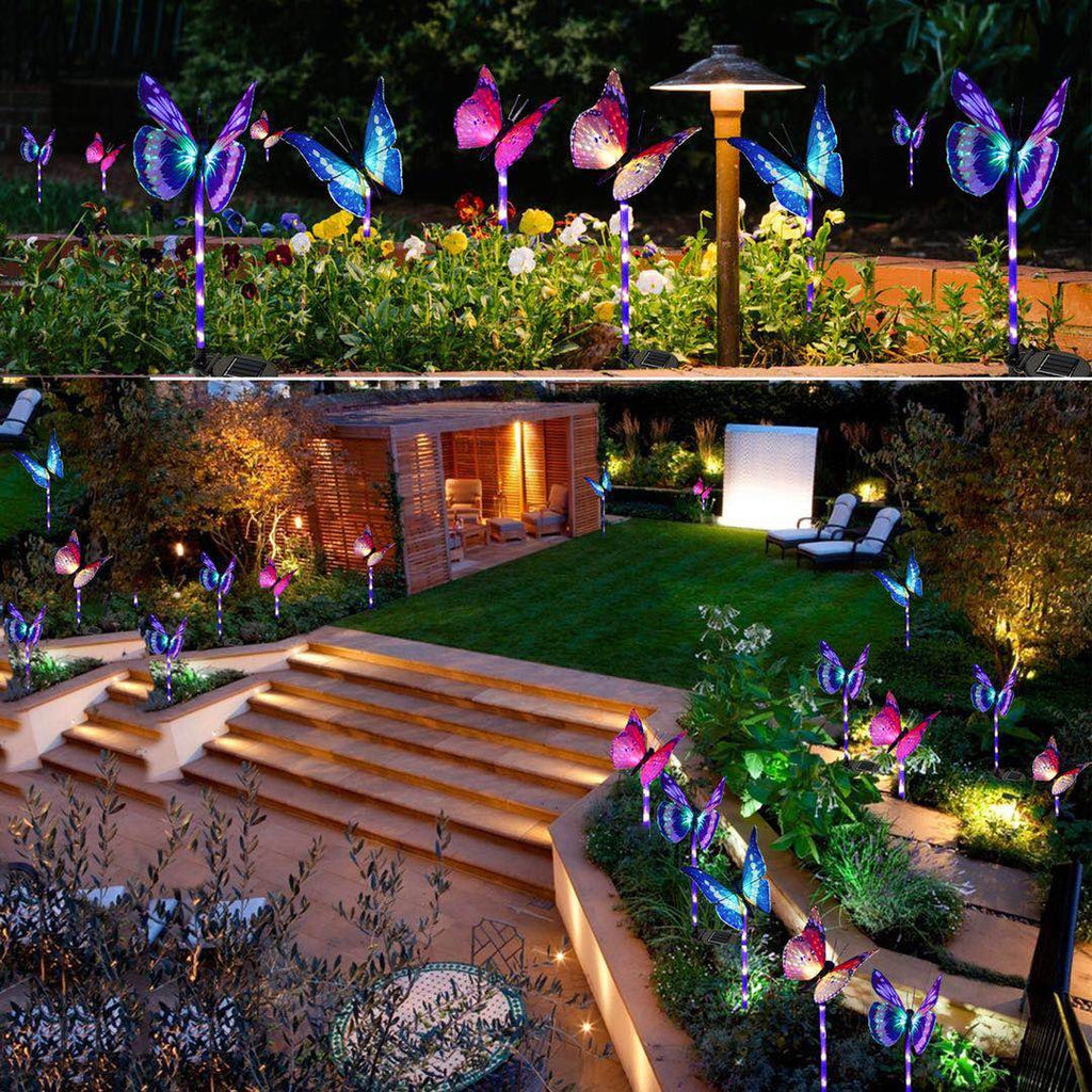 3 Pack Solar Garden Stake Butterfly Light - MAGICNIGHT