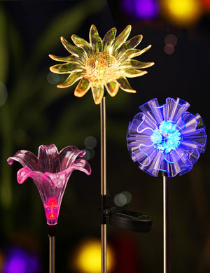 3 Pack Solar Garden Stake Flowers Light - MAGICNIGHT