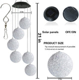 Solar Power Wind Chime Spiral Spinner Color Changing Crystal Ball