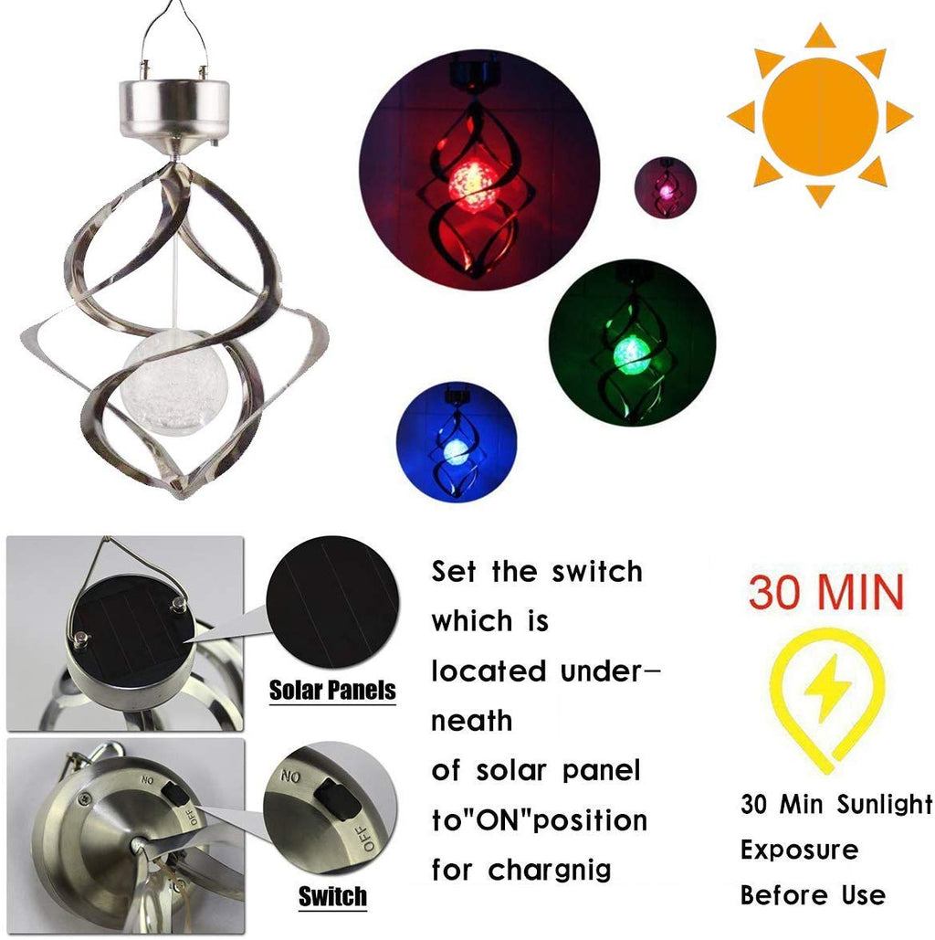 Solar Lights Outdoor Yard Decorations Wind Chimes Lights