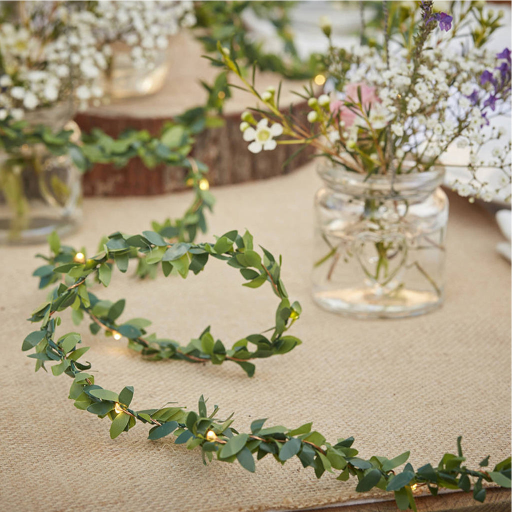 Artificial Leaf Vine String Lights for Fall Decor