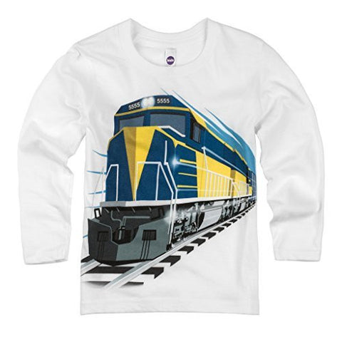 Shirts That Go Little Boys' Long Sleeve Diesel Train T-Shirt