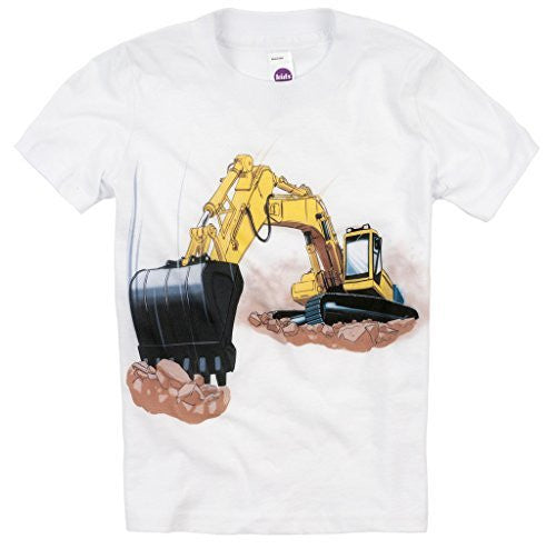 Shirts That Go Little Boys' Yellow Excavator T-Shirt