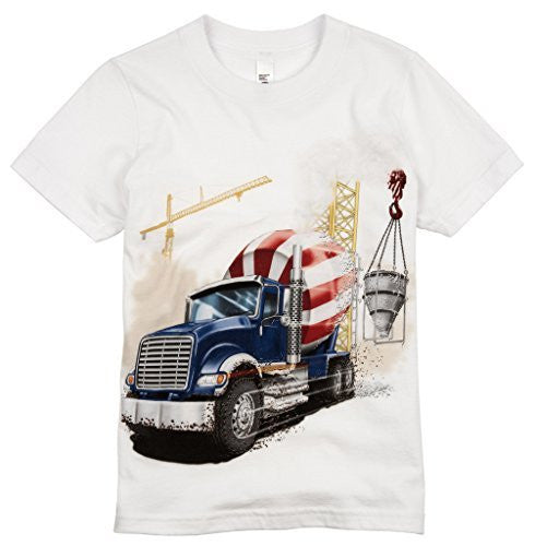 Shirts That Go Little Boys' Big Blue Cement Mixer Truck T-Shirt
