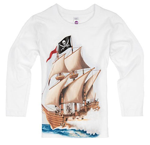 Shirts That Go Little Boys' Long Sleeve Pirate T-Shirt