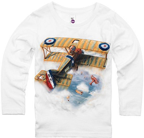 Shirts That Go Little Boys' Long Sleeve Sopwith Camel Biplane T-Shirt