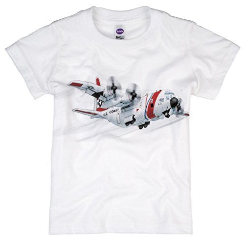 Shirts That Go Little Boys' Coast Guard Airplane T-Shirt