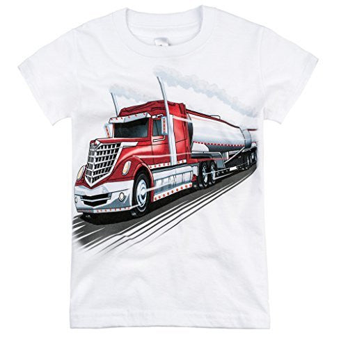 Shirts That Go Little Boys' Big Rig Tanker Truck T-Shirt