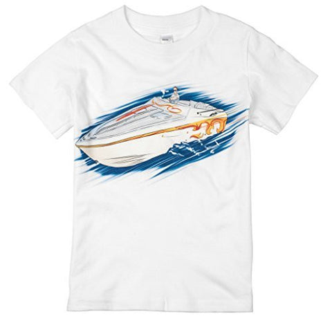 Shirts That Go Little Boys' Speed Boat T-Shirt