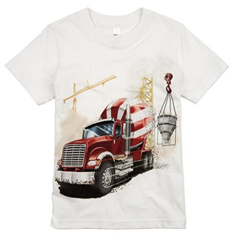 Shirts That Go Little Boys' Big Red Cement Mixer Truck T-Shirt