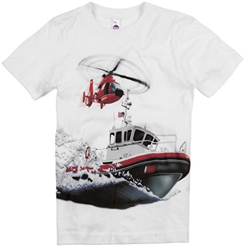 Shirts That Go Little Boys' Boat & Helicopter T-Shirt