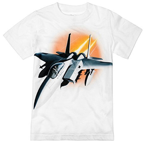 Shirts That Go Little Boys' Fighter Jet Airplane T-Shirt