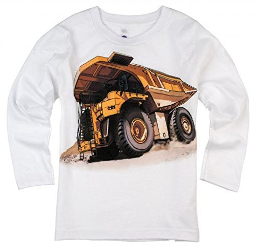 Shirts That Go Little Boys' Long Sleeve Dump Truck T-Shirt