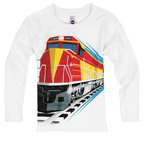 Shirts That Go Little Boys' Long Sleeve Red Diesel Train T-Shirt