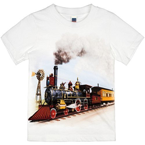 Shirts That Go Little Boys' Old West Steam Train T-Shirt