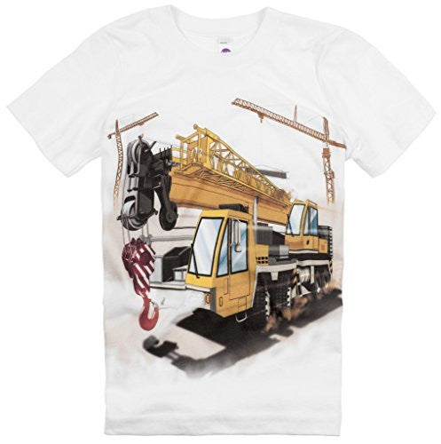 Shirts That Go Little Boys' Construction Cranes & Truck T-Shirt